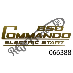 850 COMMANDO ELECTRIC START SIDE PANEL DECAL, GOLD