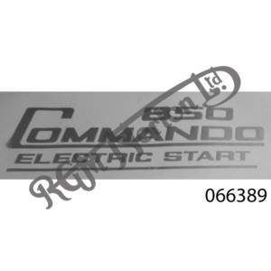 850 COMMANDO ELECTRIC START SIDE PANEL DECAL, SILVER