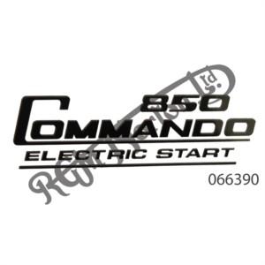 850 COMMANDO ELECTRIC START SIDE PANEL DECAL, BLACK