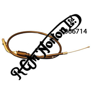 """THROTTLE CABLE FIRST SECTION, MK3 COMMANDO 1975 ON, 22"""" OUTER"""