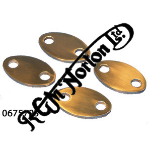 ROCKER SPINDLE OUTER COVER PLATES (4) (STAINLESS STEEL)