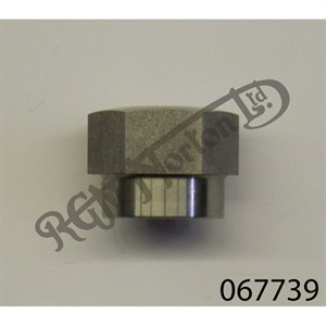 WHEEL SPINDLE NUT, FEATHERBED (20 T.P.I) STAINLESS STEEL