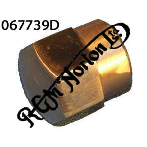 DOMED WHEEL SPINDLE NUT, FEATHERBED (20 T.P.I)