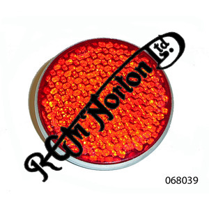 """RED REFLECTOR FOR EARLY TAIL LIGHT FAIRING 2 1/4"""" DIAMETER"""