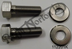 """HEADLAMP FIXING BOLTS & WASHERS PRE 1969 5/16"""" BSC (2+2)"""