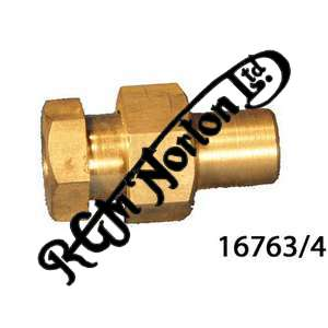 FEATHERBED CENTRE STAND BOLT AND NUT (ONE OF EACH)