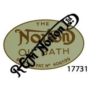 "CHAINCASE DECAL ""NORTON OIL BATH"", GOLD"