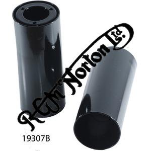 "BOTTOM FORK YOKE SHROUDS EPOXY COATED BLACK 1958-68 5 3/8"" LONG(PR)"