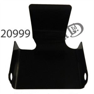 FEATHERBED FRONT ENGINE PLATE COVER, EPOXY COATED BLACK