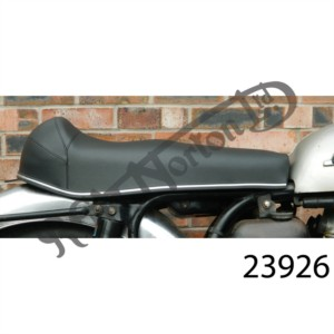 650SS SEAT BLACK WITH HUMP, UK  MADE, STEEL BASE