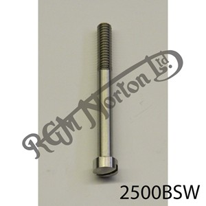"""RAISED CHEESEHEAD (FILISTER) 2 1/2"""" X 1/4"""" BSW SCREW, STAINLESS"""