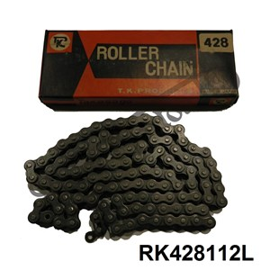 "TK (TAKASAGO) MADE IN JAPAN 428 (1/2"" X 5/16"") 112 LINKS CHAIN"