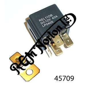 UNIVERSAL AUTOMOTIVE RELAY TO OPERATE HEADLAMPS ETC AND REDUCE LOAD ON SWITCHES.