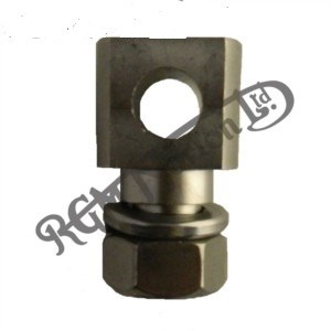 PRIMARY CHAIN TENSIONER ANCHOR BLOCK, NUT AND WASHER FOR FEATHERBED
