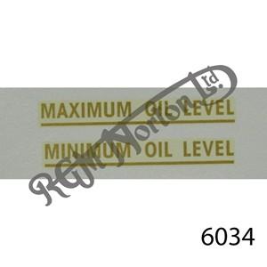 AMC OIL TANK GOLD MIN/MAX OIL LEVEL TRANSFER