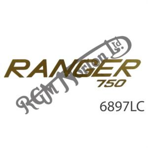 """GOLD """"RANGER 750"""" DECAL"""