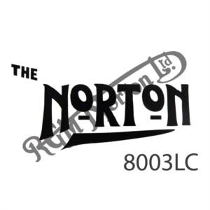 "BLACK ""NORTON"" UNDERLINED DECAL"