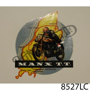 MANX TT, ISLE OF MAN, MOTORBIKE VINYL DECAL