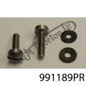 2BA STAINLESS SCREWS & RUBBER WASHERS (PR)
