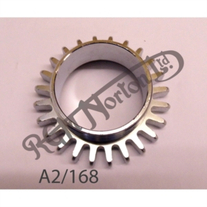 """EXHAUST ROSE FOR SINGLE CYLINDER IN BRASS DULL PLATE AS ORIGINAL, 5/8"""" THREADED"""