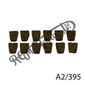 CLUTCH CORK FRICTION INSERTS, 6MM THICK, (12)