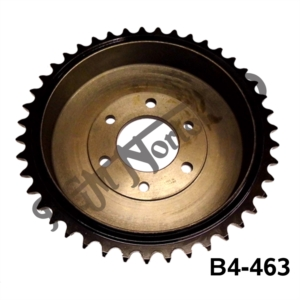 EARLY REAR WHEEL SPROCKET, PLUNGER RIBBED, UK MADE