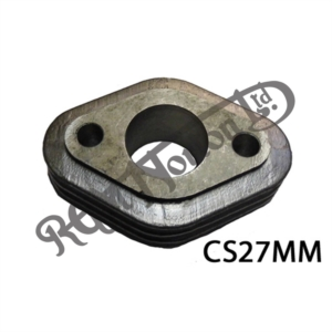 FINNED CARB MANIFOLD/SPACER 27MM