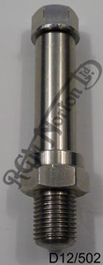 BRAKE PEDAL SPINDLE, USED ON LATER WIDELINES