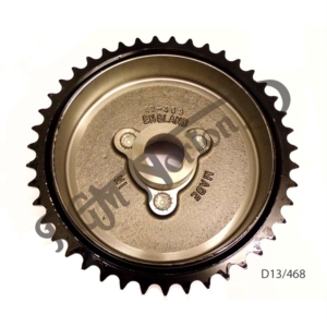 EARLY REAR WHEEL SPROCKET, BRAKE DRUM 43 TEETH FOR HALF WIDTH HUB, UK MADE