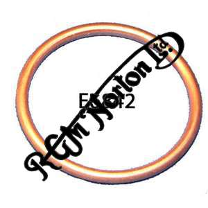 EXHAUST PIPE COPPER GASKET, SINGLES