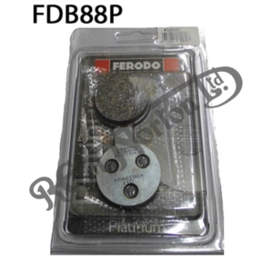 FERODO PLATINUM SERIES BRAKE PADS, COMMANDO