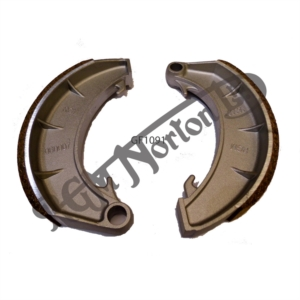 RGM FRONT BRAKE SHOES MZ GOLD FOR 2LS (TWIN LEADING SHOE), HIGH FRICTION