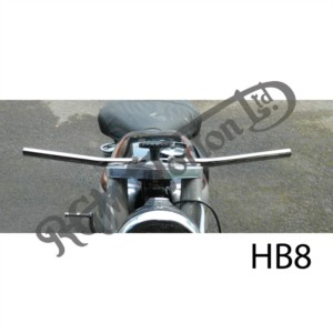 """VINCENT STRAIGHT HANDLEBARS 27.25"""" WIDE LAST 9"""" EITHER SIDE 18 DEGREE LIFT"""