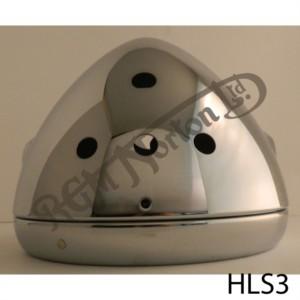 HEADLAMP SHELL & RIM CHROMED 3 W/LIGHTS & 1 SWITCH