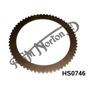 CLUTCH PLATE HARDENED STEEL NARROW 2MM