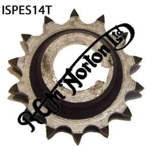 ENGINE SPROCKET, SINGLES, 14 TEETH, TOOTH POSITION IN