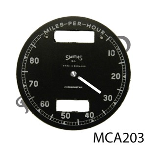 CHRONOMETRIC REPLACEMENT SPEEDO FACE 10 - 80 MPH