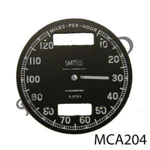 CHRONOMETRIC REPLACEMENT SPEEDO FACE 10 - 120 MPH