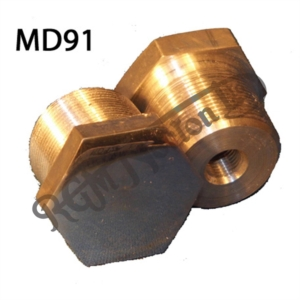 """FORK ALLOY STANCHION TOP NUTS 3/8"""" BSC (PAIR)"""