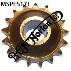 ENGINE SPROCKET, SINGLES, 17 TEETH, TOOTH POSITION MIDDLE