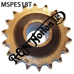 ENGINE SPROCKET, SINGLES, 18 TEETH, TOOTH POSITION MIDDLE