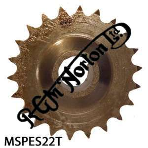 ENGINE SPROCKET, SINGLES, 22 TEETH, TOOTH POSITION MIDDLE