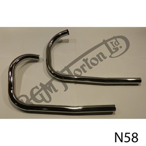 EXHAUST PIPES (PAIR) DOMINATOR 88/99