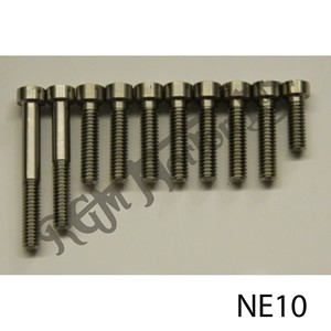 TIMING COVER SLOTTED SCREW SET, LATE SINGLE CYLINDER SIDE VALVE