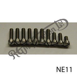 TIMING COVER SLOTTED SCREW SET, EARLY SINGLE CYLINDER SIDE VALVE