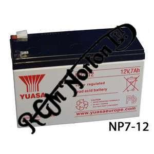 BATTERY YUASA, 7 AMP YUASA DRY CELL, 12 VOLT
