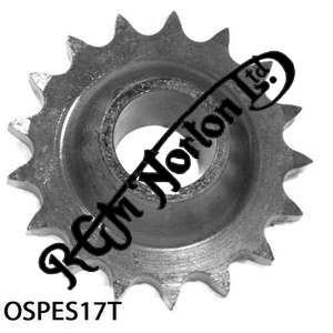 ENGINE SPROCKET, SINGLES, 17 TEETH, TOOTH POSITION OUT