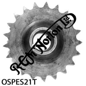 ENGINE SPROCKET, SINGLES, 21 TEETH, TOOTH POSITION OUT