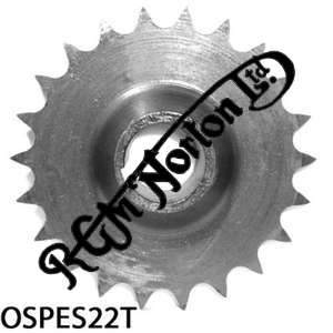 ENGINE SPROCKET, SINGLES, 22 TEETH, TOOTH POSITION OUT