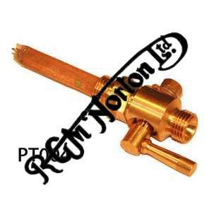 "1/4"" B.S.P. PETROL TAP BRASS - UK MADE, STRAIGHT THROUGH"